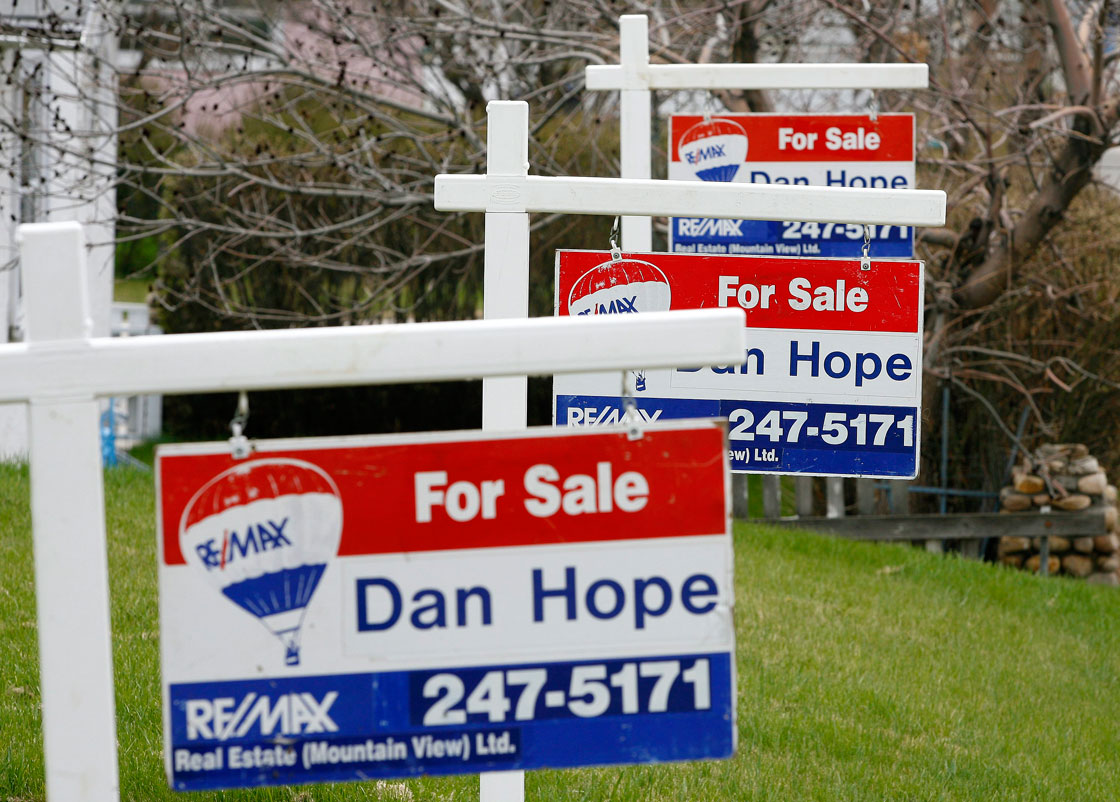 The number of homes up for sale in Calgary has surged as buyers become scarce in recent weeks.