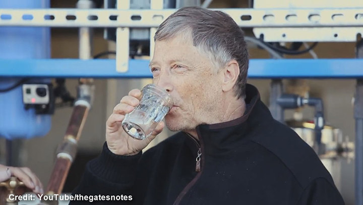 WATCH: Bill Gates drinks water that was once poop — for a good cause - National | Globalnews.ca