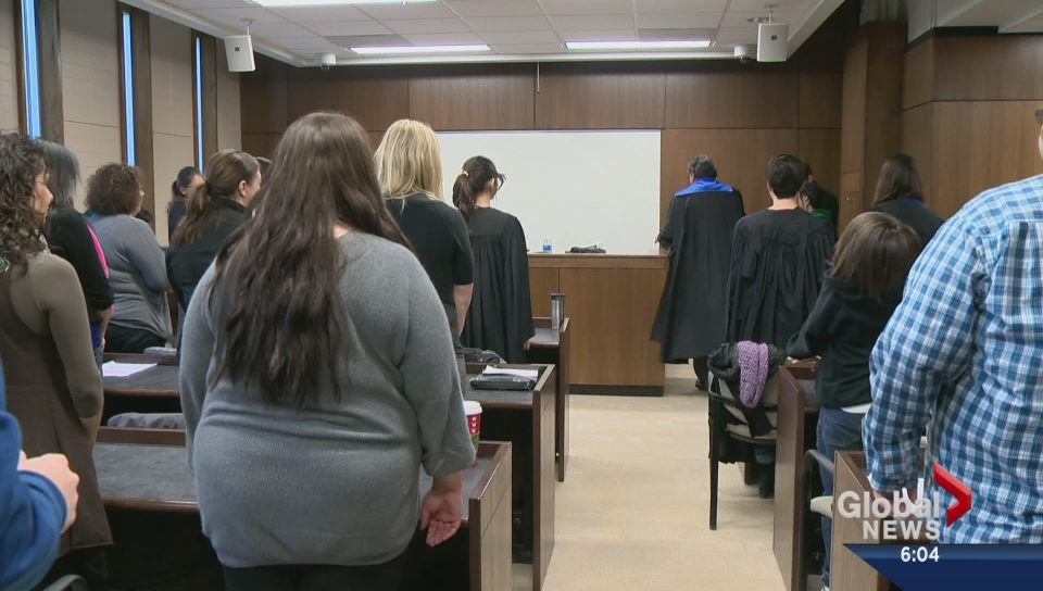 A mock trial was held in Saskatoon for St. Frances school students aged 11 to 14, aiming to inspire them to consider a career in law.