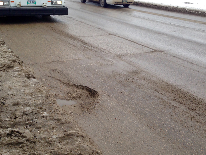 Pothole Pembina Highway Winnipeg