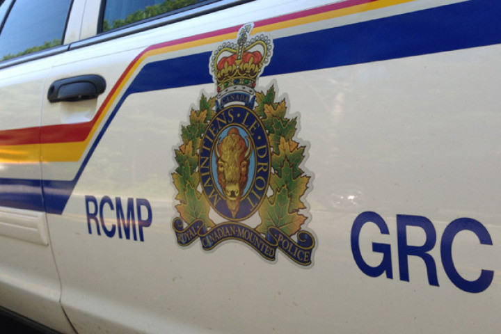 RCMP officers were diverting traffic around a serious collision involving a semi-truck near Winfield, Alta., on Tuesday, Nov. 5, 2019.