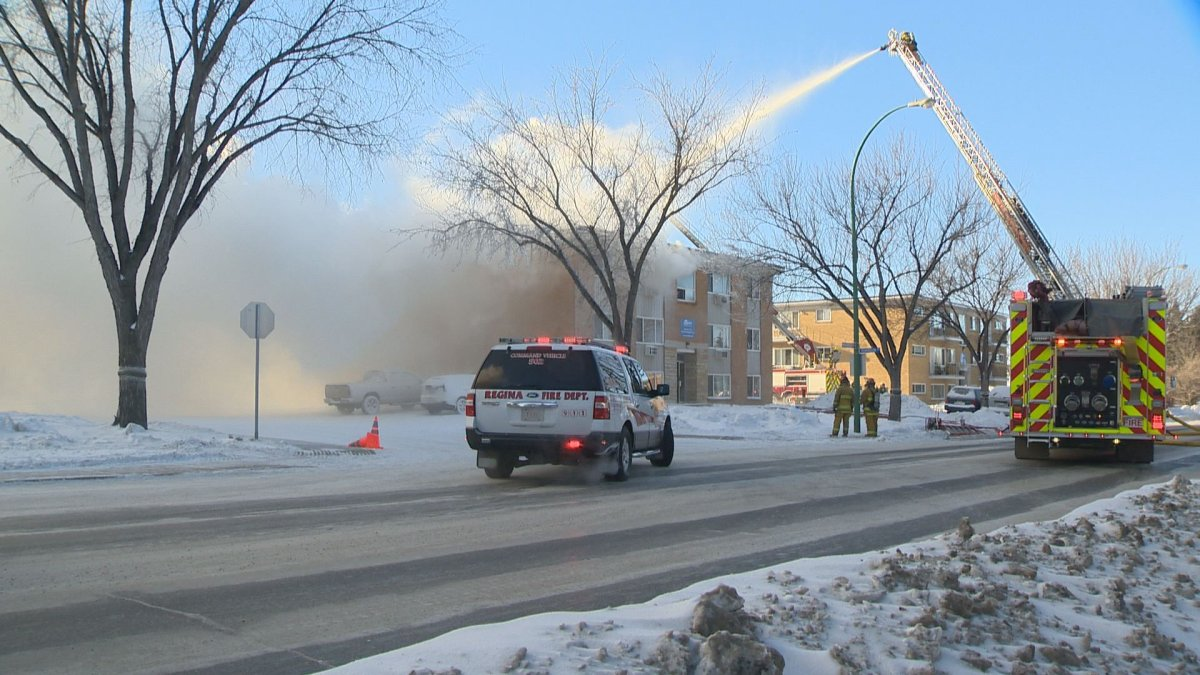 Regina Fire says careless cooking caused a giant apartment fire at 3015 Parliament Avenue in Regina earlier this month.