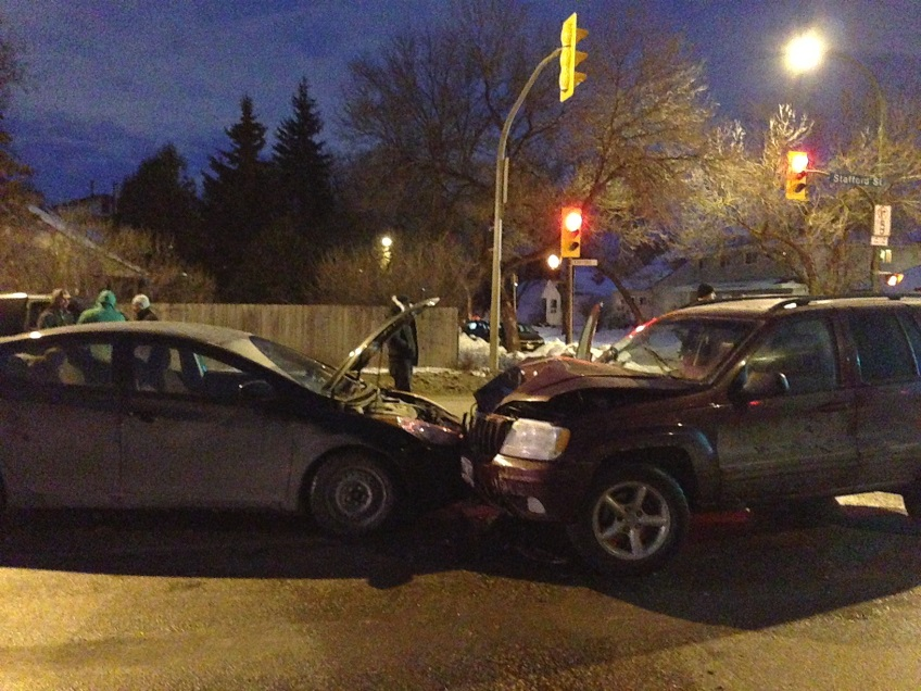 Top 10 worst intersections for collisions in Winnipeg.