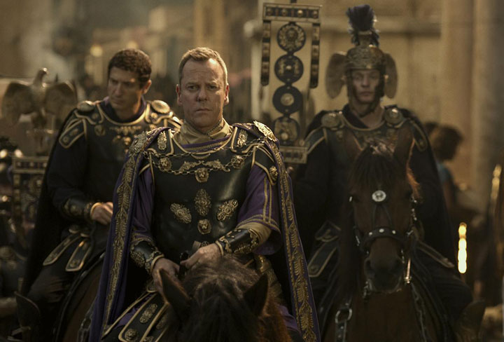 Kiefer Sutherland in a scene from 'Pompeii.'.