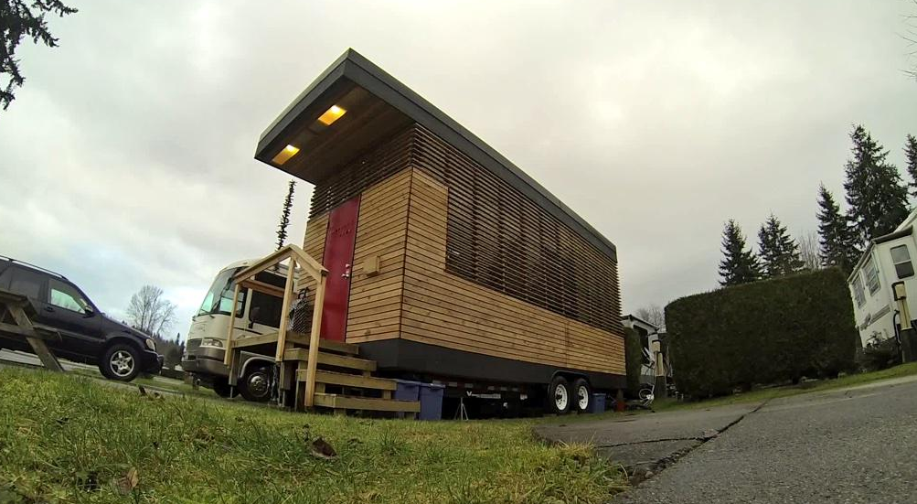 The 186 square-foot home on wheels.