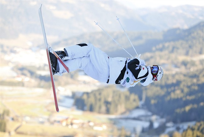 Canada's Mikael Kingsbury competes to place second in the men's freestyle skiing single moguls final event at the Freestyle Ski and Snowboard World Championships in Kreischberg, Austria, Sunday, Jan. 18, 2015.