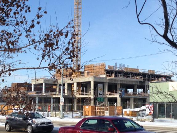 Site of the Glenora Skyline project on 142 Street and Stony Plain Road, Feb. 25, 2015.