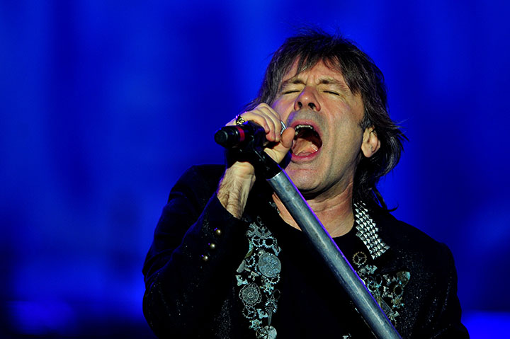 Bruce Dickinson of Iron Maiden pictured.