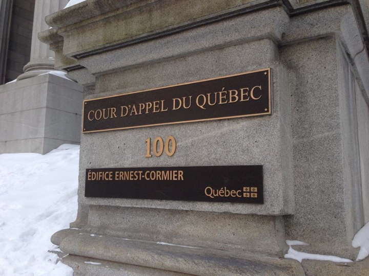 The exterior of the Quebec Court of Appeal on February 18, 2015.