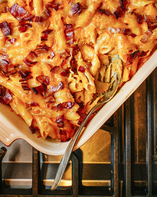 Recipes Maple cider baked beans cheesy penne