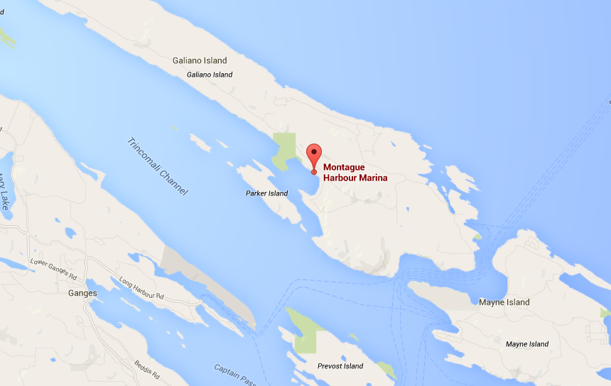 The float plane crashed near this location.