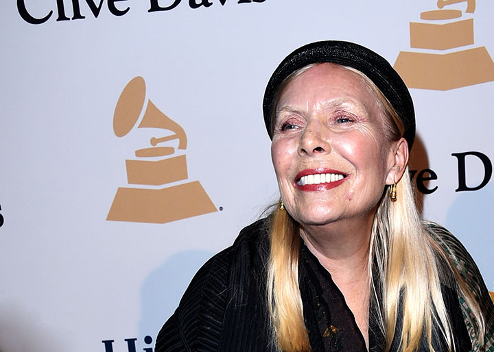 Joni Mitchell, pictured in February 2015.