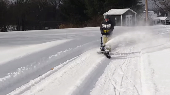 The Snow Joe iON18SB is of the most popular battery-operated snowblowers on the market.