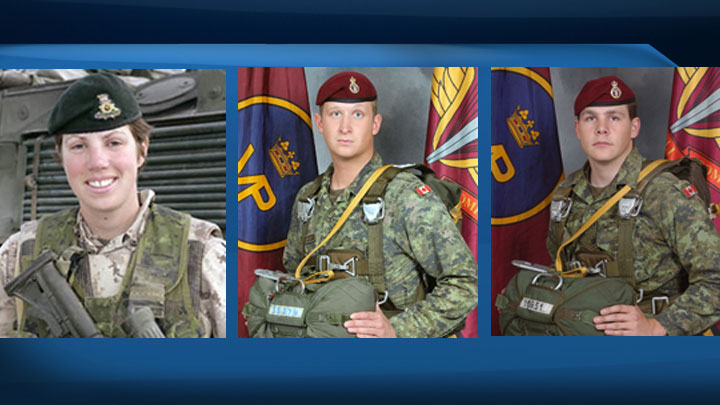Three lakes in northern Saskatchewan have been named after soldiers from the Princess Patricia's Canadian Light Infantry who died in Afghanistan.