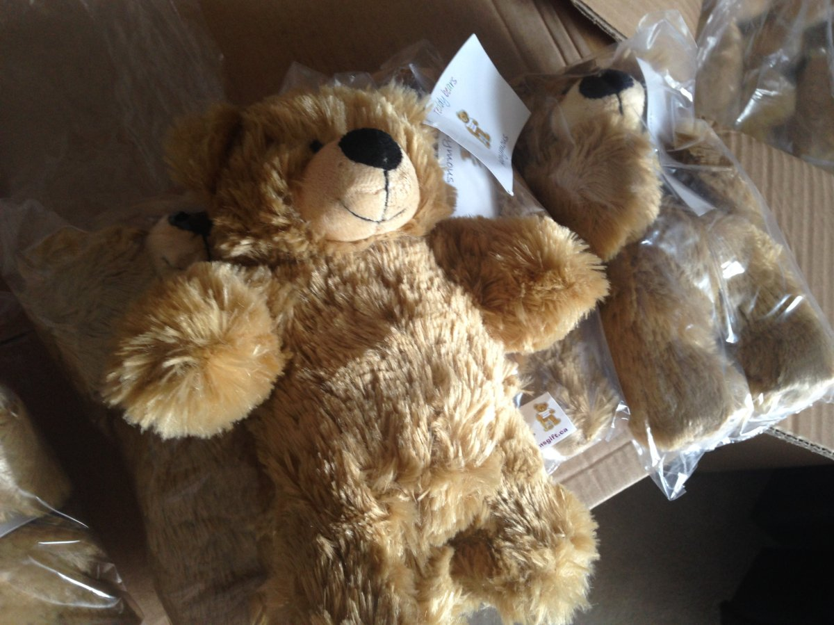 Teddy Bears Anonymous gives out 1,000 of these toys per month to Regina hospitals.