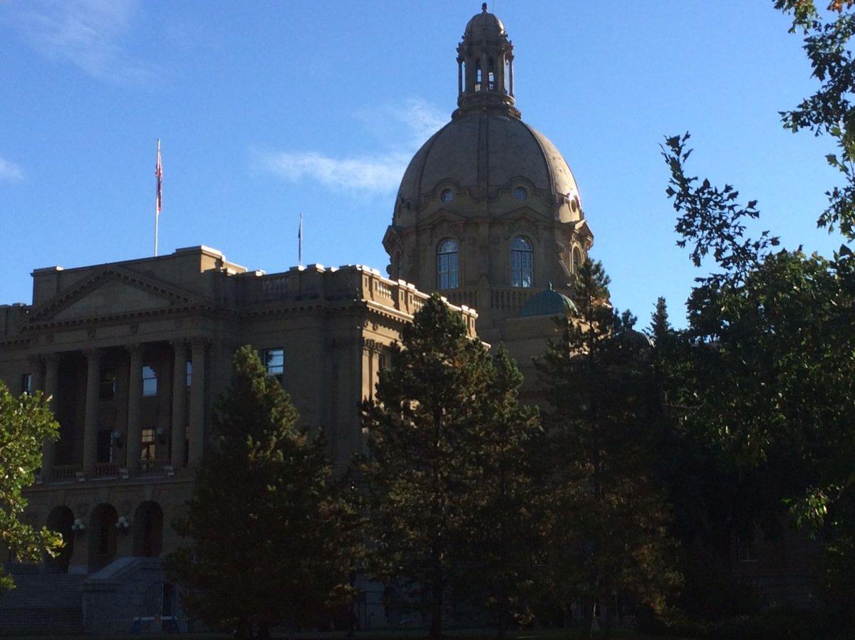 The Alberta legislature in Edmonton.