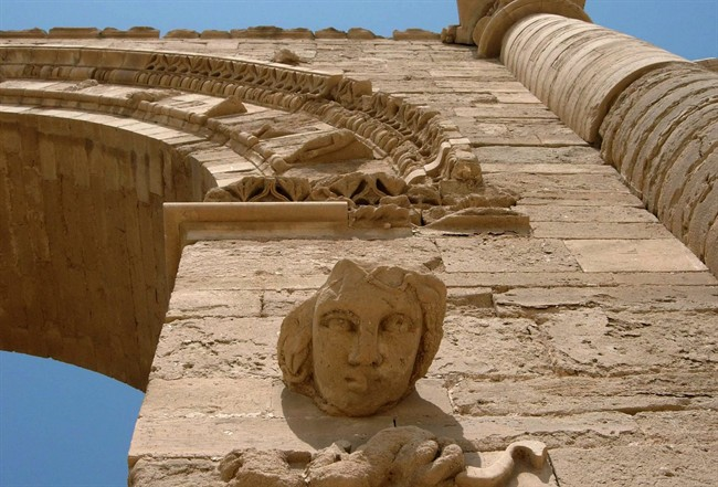 A file photo of the ruins in Hatra. Islamic State extremists at Iraq's ancient city destroyed the archaeological site by smashing sledgehammers into its walls.