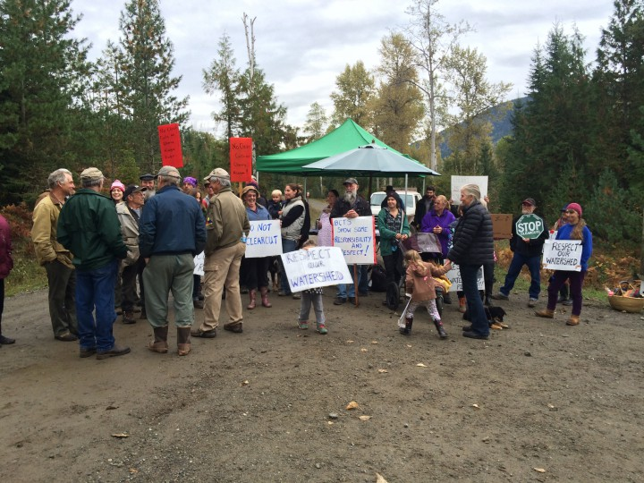 In September 2014 Cherryville residents set up a blockade to try and prevent work from going ahead on a logging road.