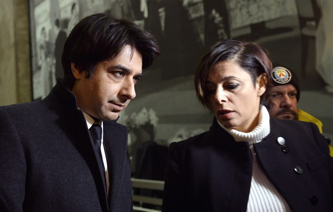 Jian Ghomeshi, left, and his lawyer Marie Henein arrive at court in Toronto on Jan. 8, 2015. THE CANADIAN PRESS/Nathan Denette.