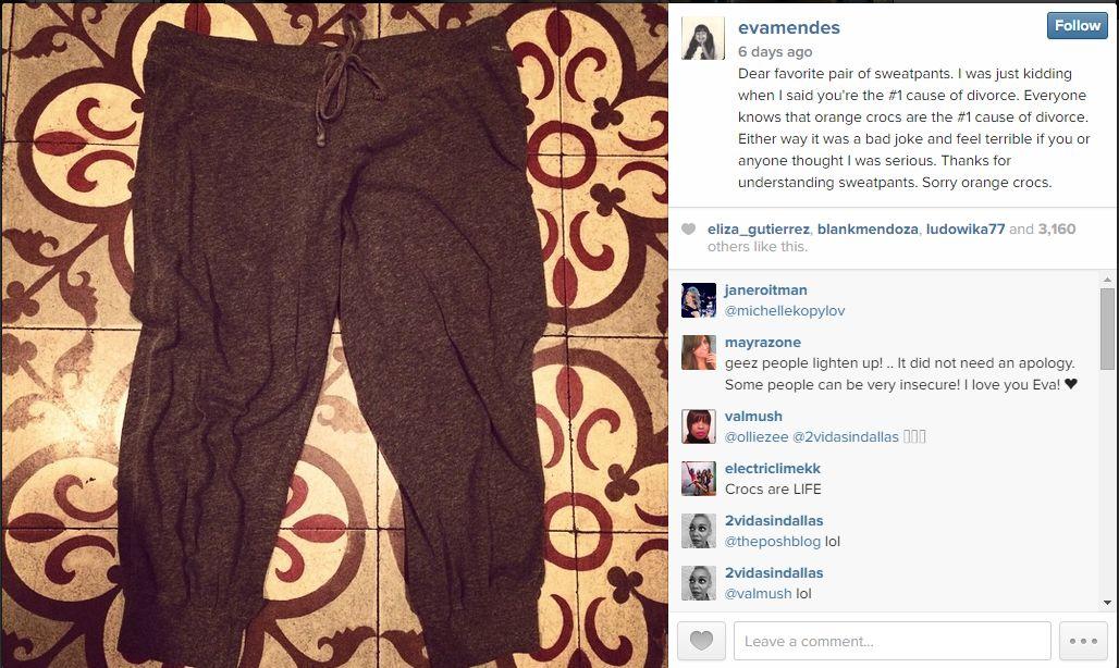 Eva Mendes and sweatpants