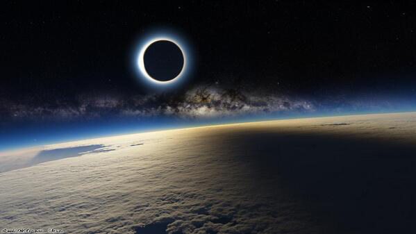 This is truly a stunning photo of a total solar eclipse...but it's not real.
