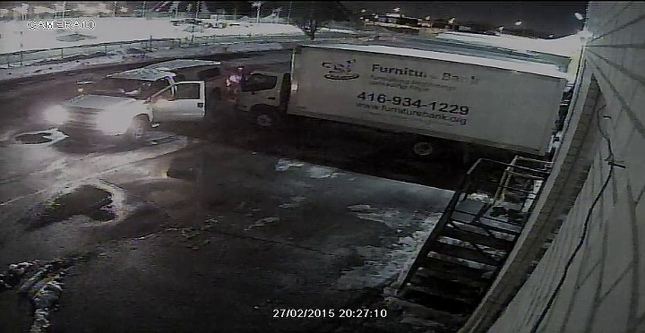 Security image provided by Furniture Bank recorded on Feb. 27, 2015.