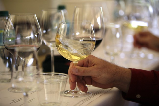 In this May 20, 2009 file photo a glass of white wine is swirled during a tasting in California.