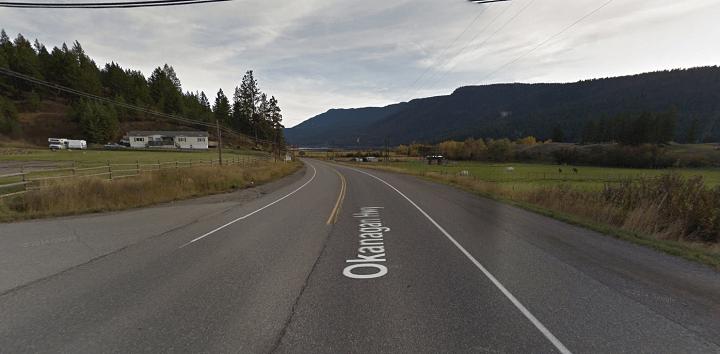 Highway 97 as it runs through Monte Lake.