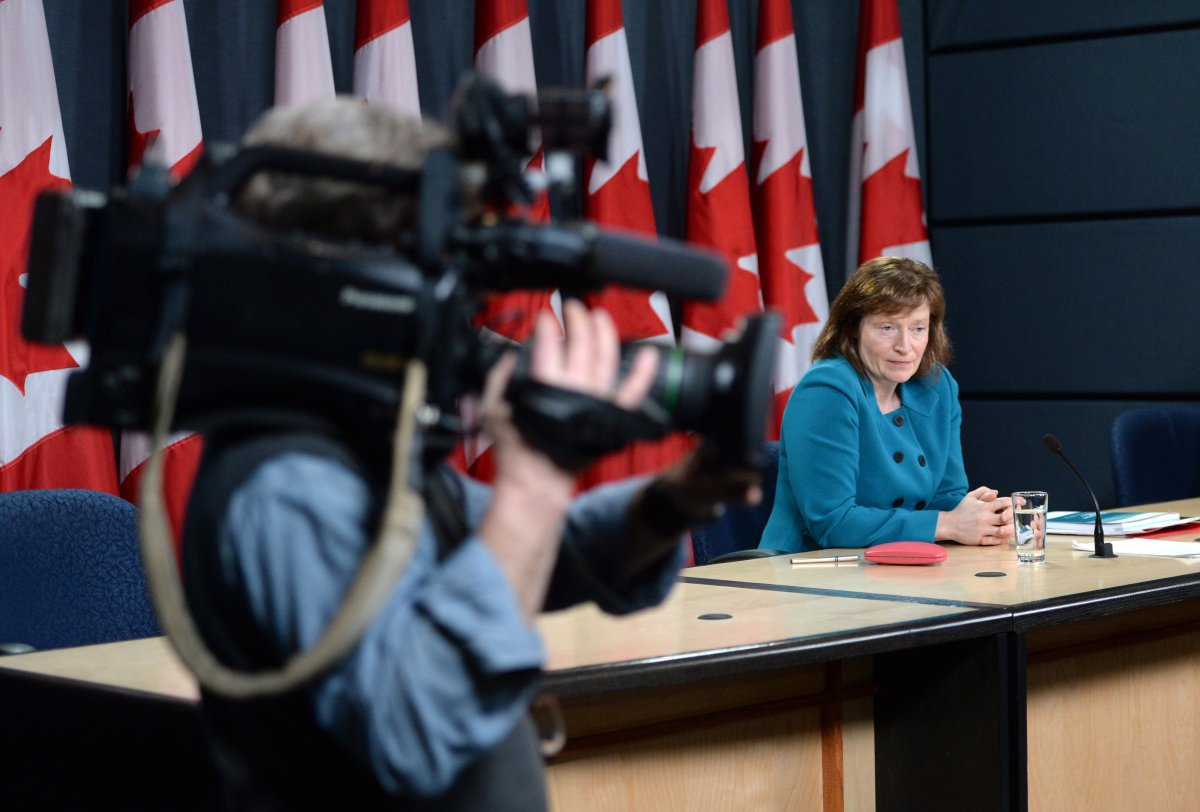 Information Commissioner Suzanne Legault holds a press conference after tabling her report on reforming the Access to Information Act.