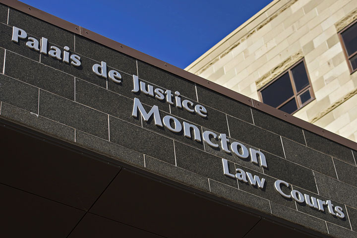 The Moncton Law Courts in Moncton, N.B.