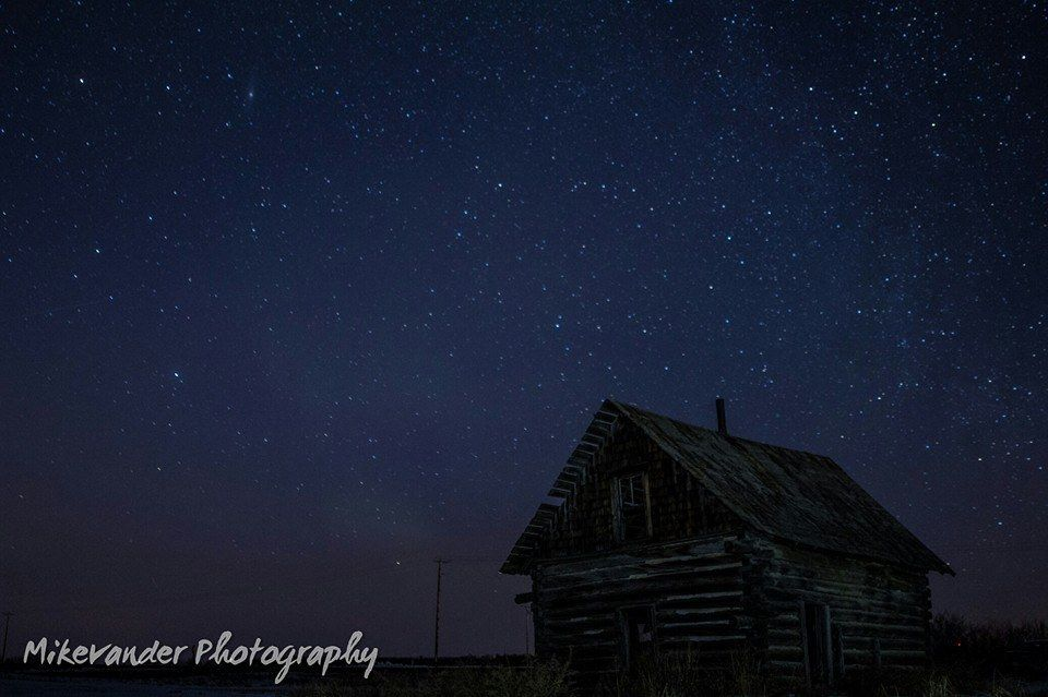 Photo of the night sky near Elk Point, Alberta. March 7, 2015.