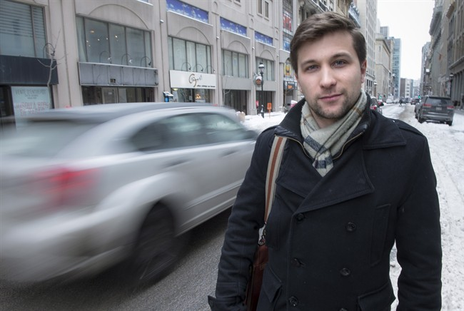 Gabriel Nadeau-Dubois, the former face of the Quebec student movement, is seen in Montreal.