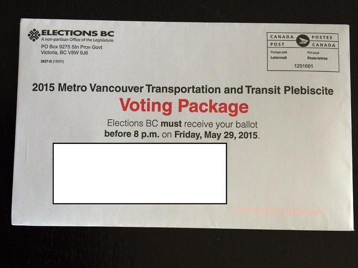 A sample transit plebiscite ballot.