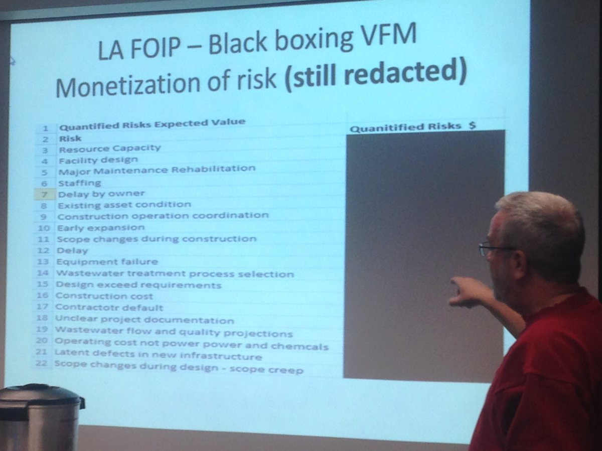 U of R researcher Bill Bonner points out a redacted value-for-money audit provided by the City of Regina under a freedom-of-information request.
