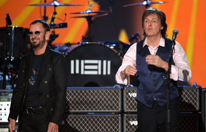 Ringo Starr and Paul McCartney, pictured in January 2014.