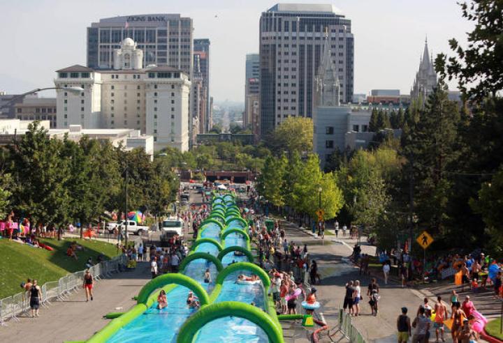 Slide the City has travelled around North America.