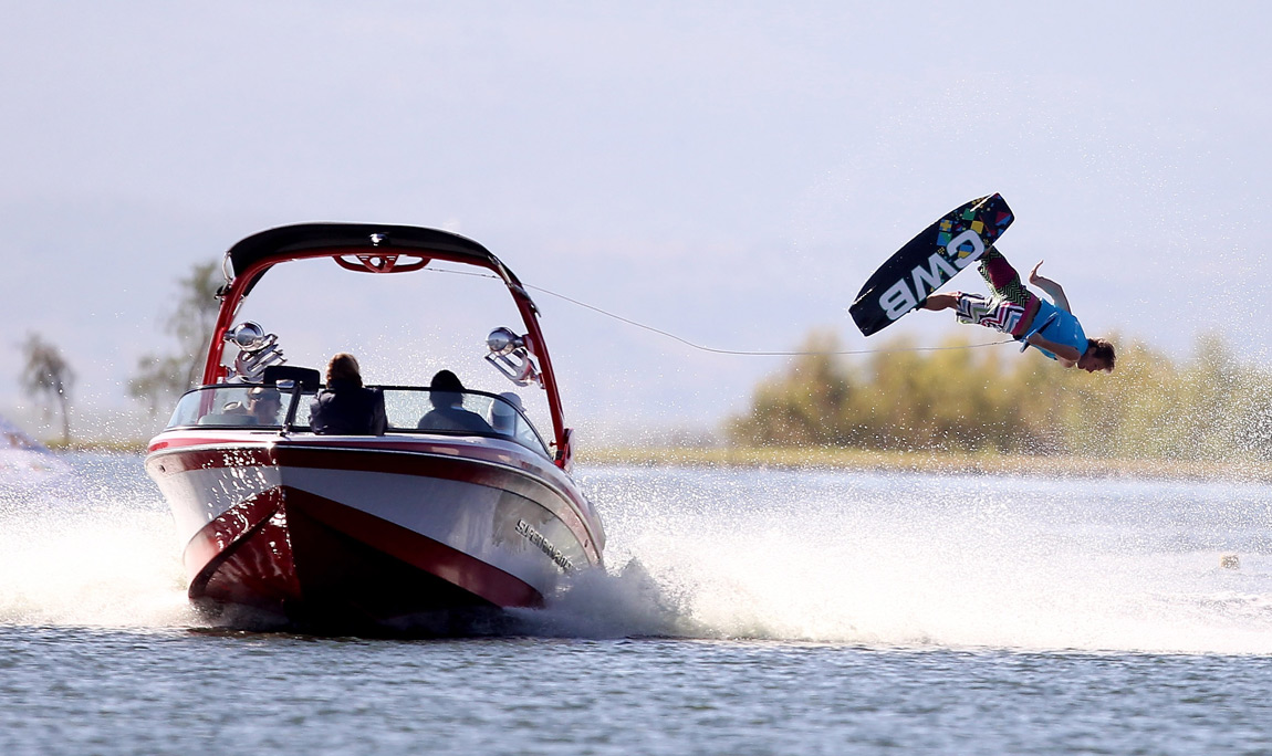An American wakeboarder competes at the 2011 Pan Am Games