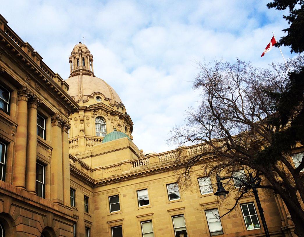 The Alberta legislature on March 27, 2015.