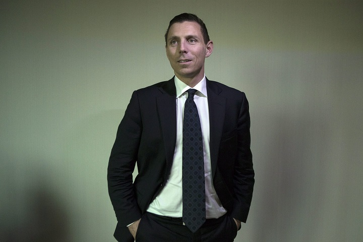 Patrick Brown, an Ontario PC leadership contender and MP for Barrie, is photographed in Toronto on Friday, April 10, 2015.