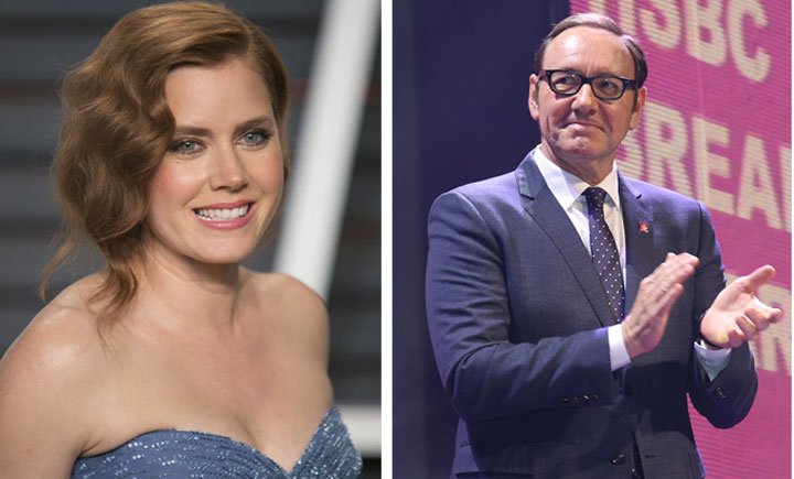 Amy Adams and Kevin Spacey will be in Montreal this summer working on separate projects.