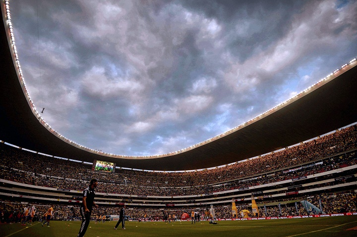 A view of the Azteca Stadium in Mexico City on December 14, 2014.
