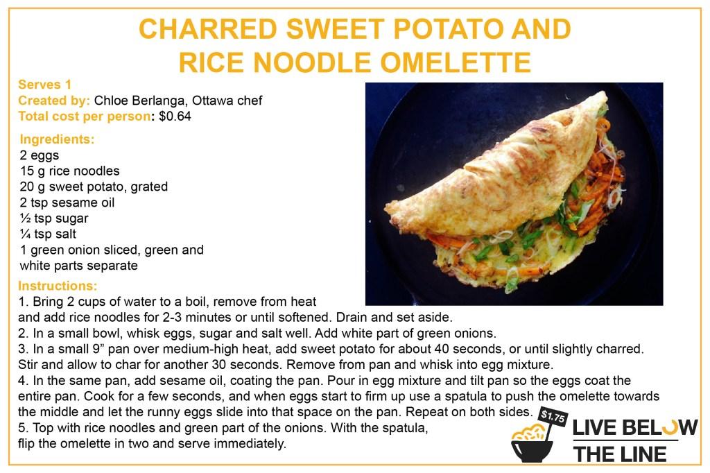 Breakfast - Sweet Potato & Rice Noodle Omelette