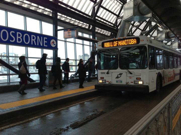 Winnipeg Transit bus Osborne Station
