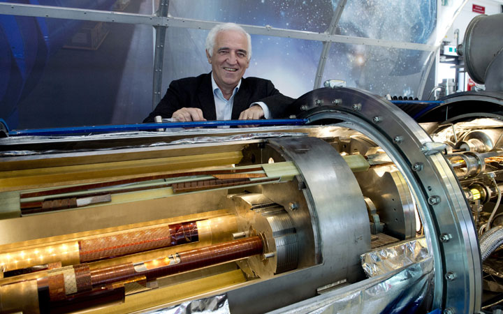 CERN director for accelerators and technology Frederick Bordry poses on February 10, 2015 at the European Organisation for Nuclear Research (CERN) in Meyrin, near Geneva.