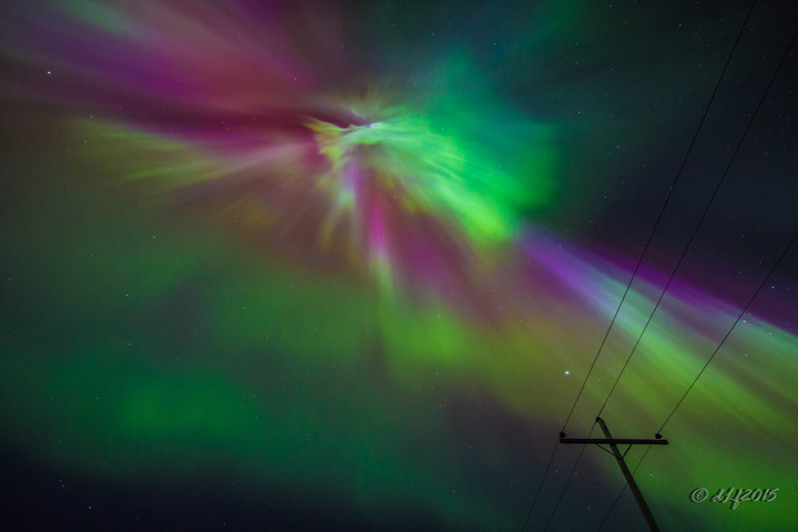 Taken April 9 around midnight near Gronlid, Sask.