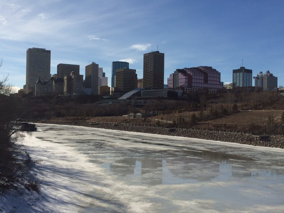 A view of downtown Edmonton, spring 2014.