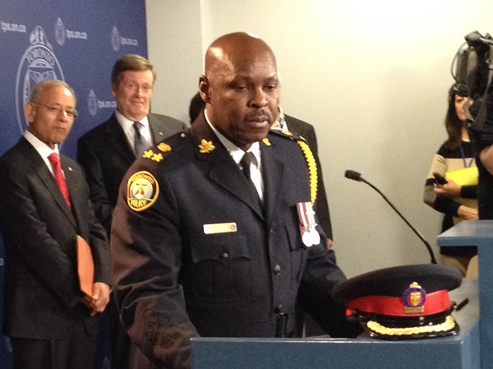 Mark Saunders was announced as Toronto's new police chief on April 20, 2015.