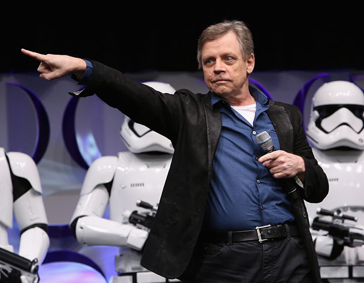 Mark Hamill, pictured at the 'Star Wars' Celebration on April 16, 2015.