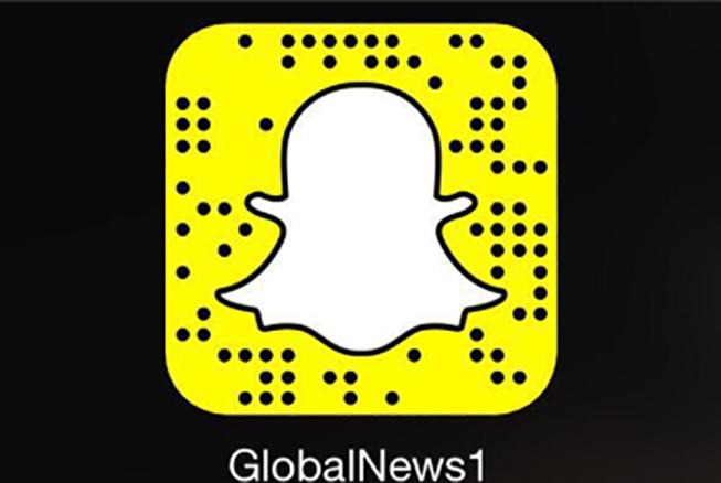 Find Global News on Snapchat as globalnews1.