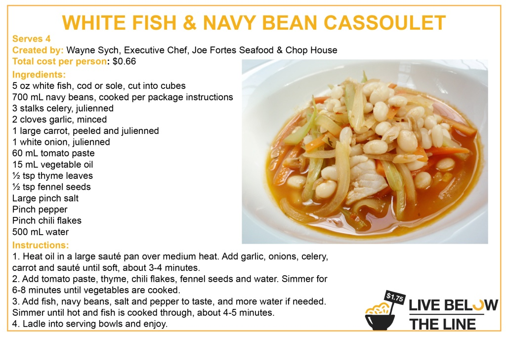 White Fish and Navy Bean Cassoulet